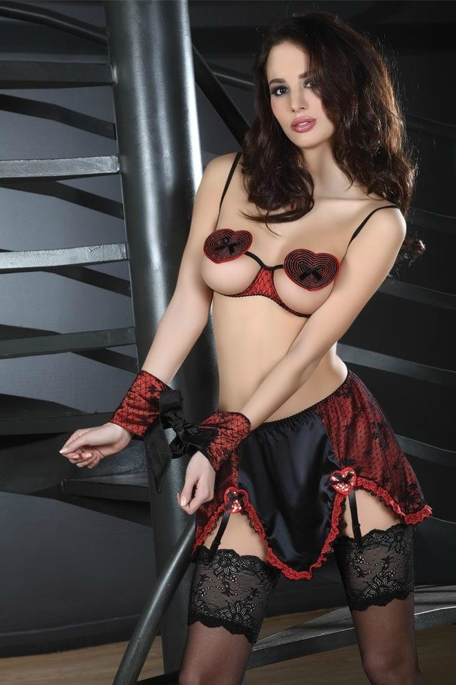 Комплект с юбочкой и манжетами «Zevida» арт.90110