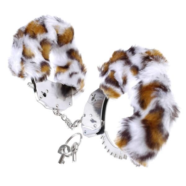 Металлические наручники с мехом «Fetish Fantasy Series Original Furry Cuffs» (Фото 2)