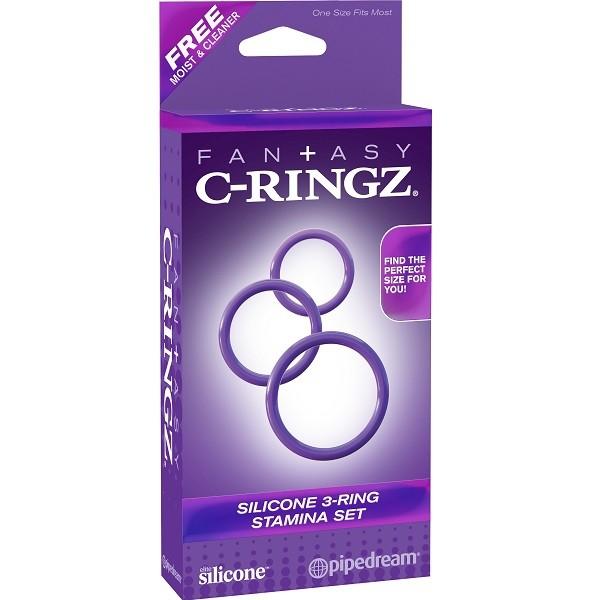 Набор эрекционных колец «Silicone 3-Ring Stamina Set»