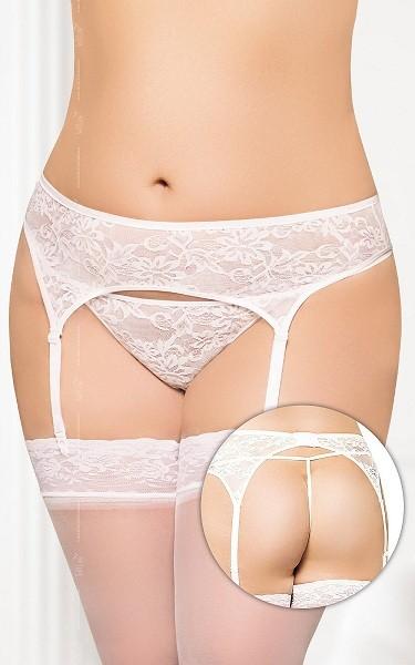 Пояс для чулок и трусики «Soft Line White Plus Size»
