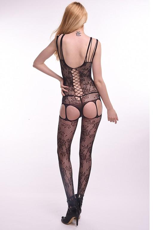 Кэтсьюит с имитацией корсетной шнуровки и подвязок «Femme Fatale» (Фото 1)