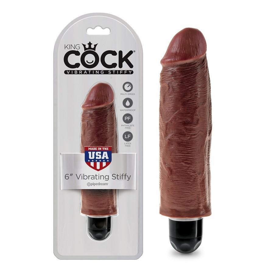 "Реалистичный вибратор «King Cock 6» Vibrating Stiffy"""