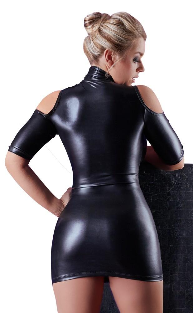 Мини-платье wetlook с вырезом «Cottelli Collection Party» (Фото 1)