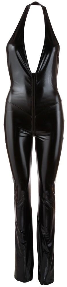 Лаковый комбинезон с брюками-клеш «Cottelli Collection Party» (Фото 2)