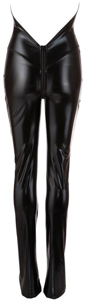 Лаковый комбинезон с брюками-клеш «Cottelli Collection Party» (Фото 3)