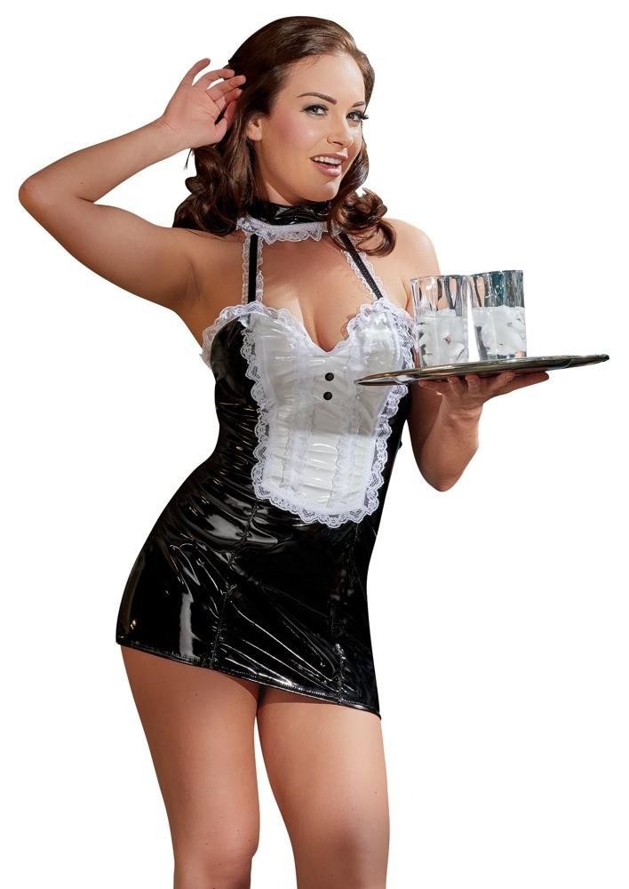 Виниловое платье официантки «Black Level Vinyl Maid Dress»