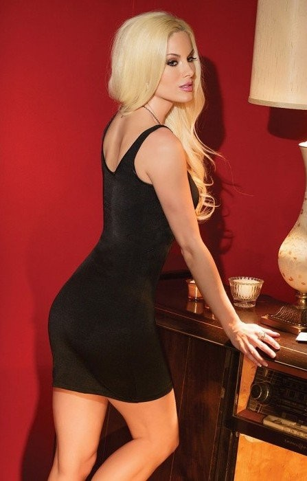 Черное платье с оригинальным вырезом «Coquette» (Фото 1)