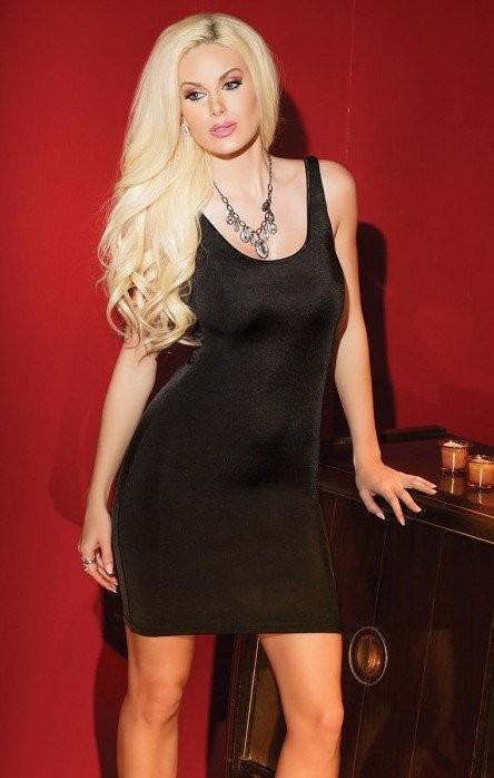 Черное платье с оригинальным вырезом «Coquette» (Фото 2)