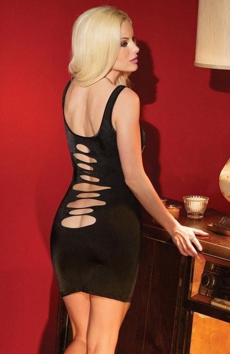 Черное платье с оригинальным вырезом «Coquette» (Фото 3)