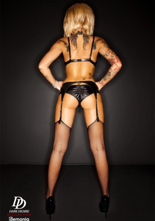 Комплект из матовой кожи «Amanda» (Фото 4)