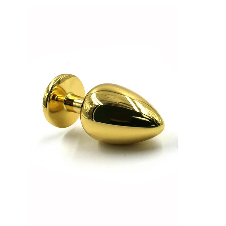 Анальная пробка со стразом «Small Gold» (Фото 1)