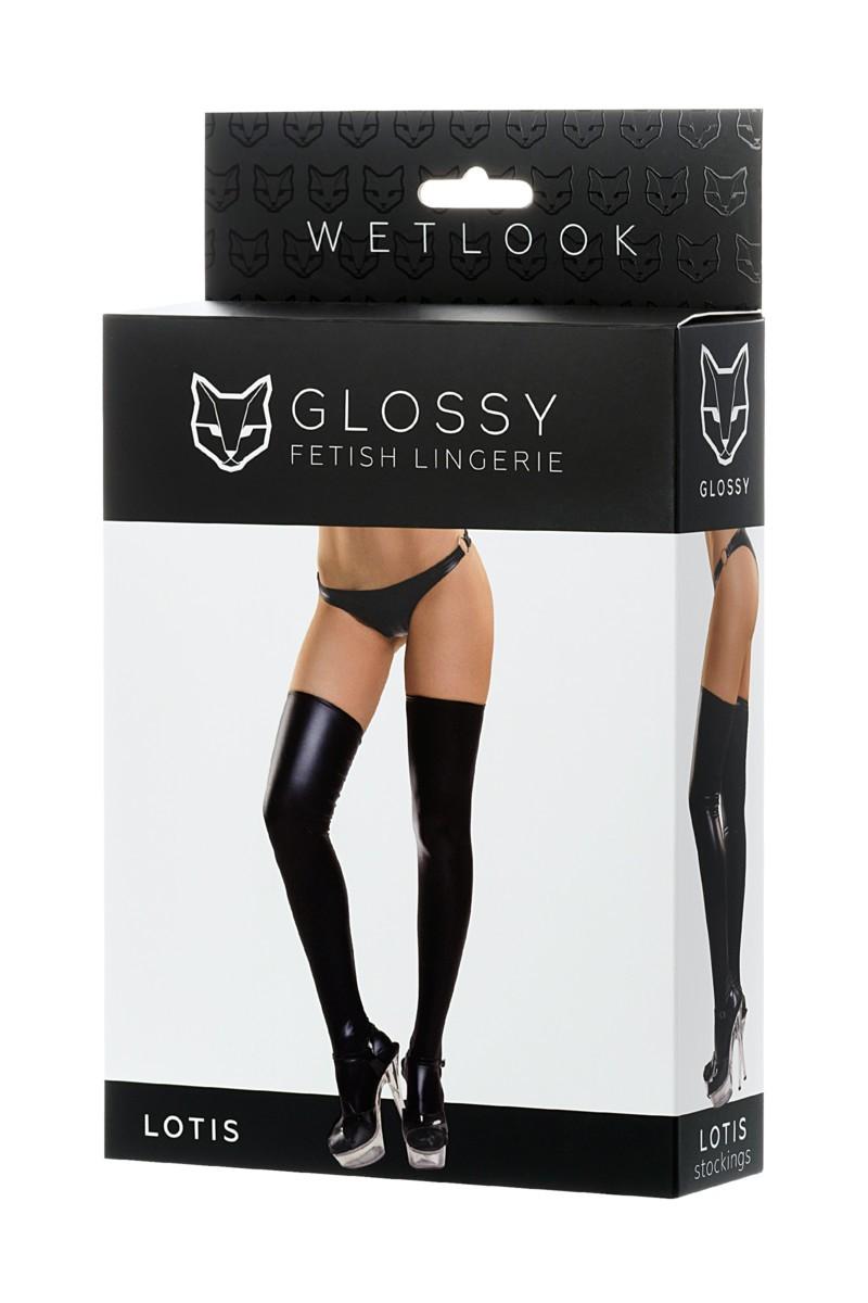 Чулки с эффектом wetlook «Glossy» (Фото 3)