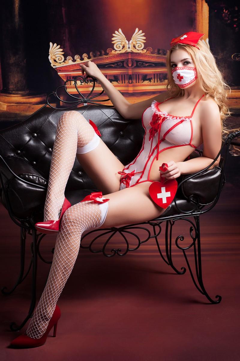 Игровой костюм медсестры «Candy Girl Lola» 6 предметов (Фото 4)