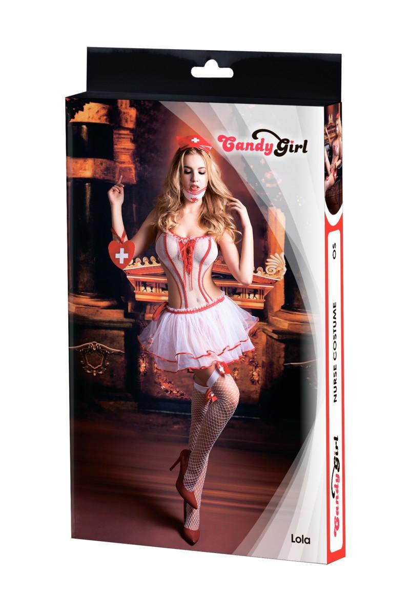 Игровой костюм медсестры «Candy Girl Lola» 6 предметов (Фото 5)