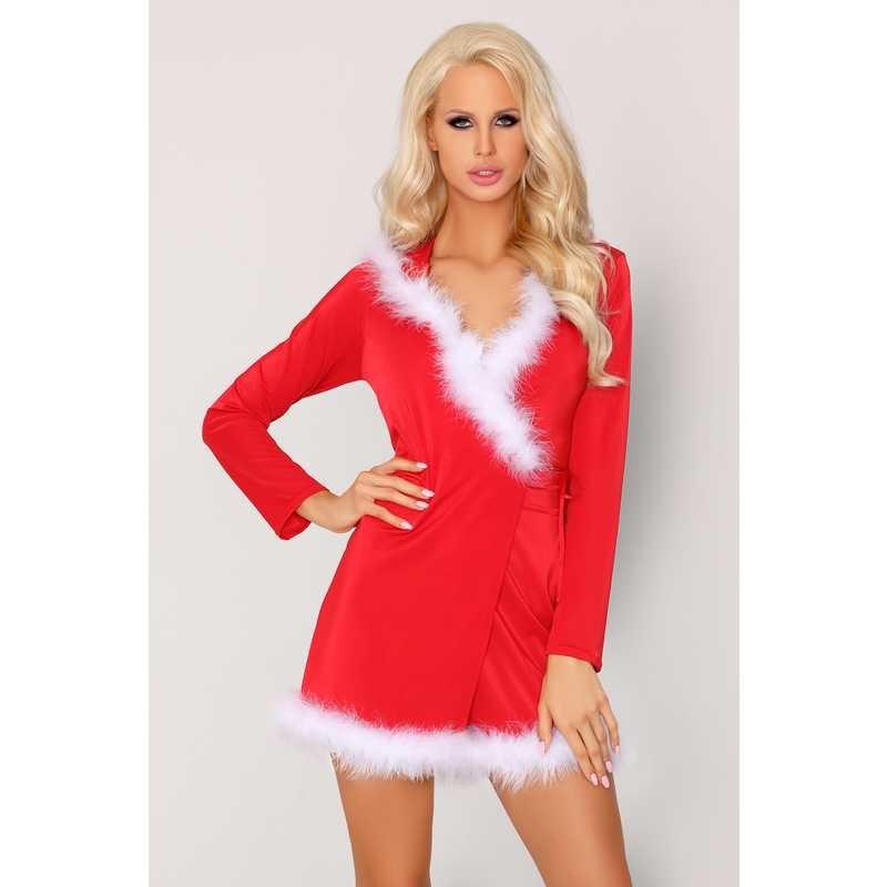 Новогоднее платье с капюшоном «Monisa» (Фото 1)