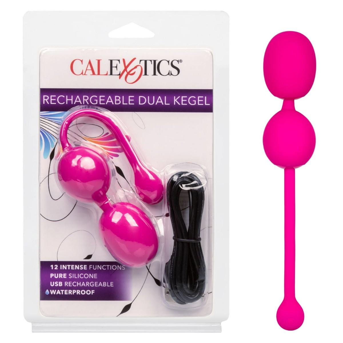 Вагинальные шарики с вибрацией «Rechargeable Dual Kegel»