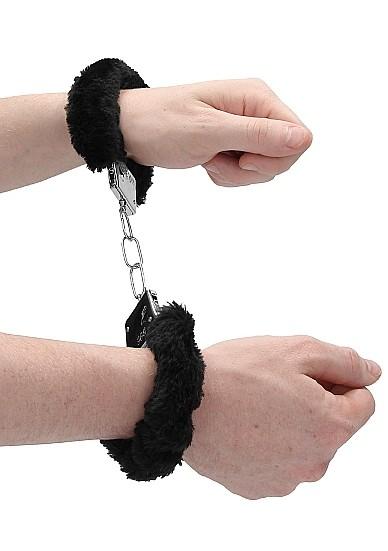 Металлические наручники с меховой опушкой «Beginner's Handcuffs Furry» (Фото 3)