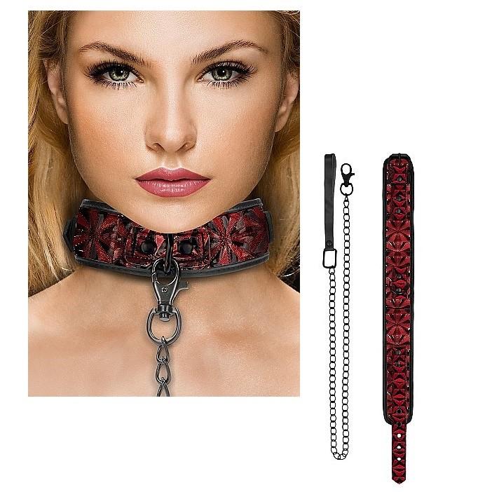 Ошейник с цепным поводком «Luxury Collar with Leash» (Фото 1)
