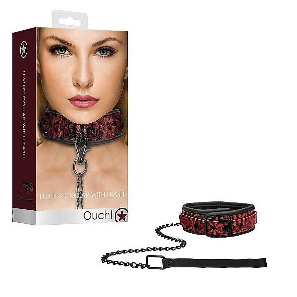 Ошейник с цепным поводком «Luxury Collar with Leash»