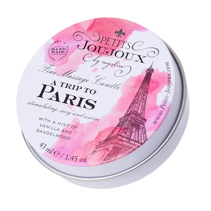 Массажная свеча с ароматом ванили и сандала «Petits JouJoux A Trip To Paris» (Фото 1)
