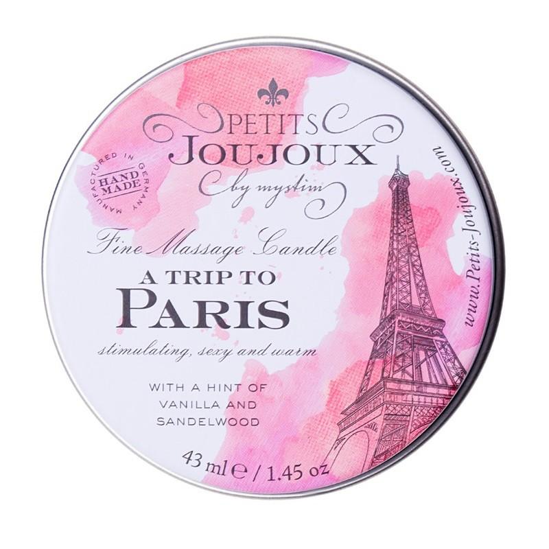 Массажная свеча с ароматом ванили и сандала «Petits JouJoux A Trip To Paris» (Фото 2)
