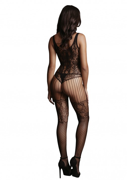 Боди-комбинезон «Lace and Fishnet Bodystocking» (Фото 1)