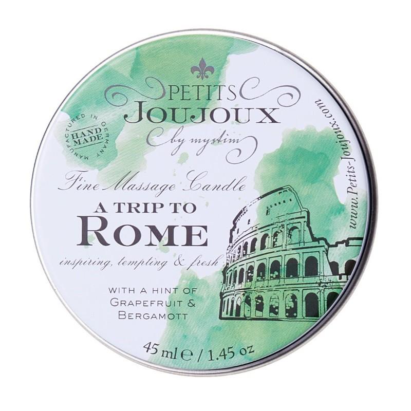 Массажная свеча с ароматом грейпфрута и бергамота «Petits JouJoux A Trip To Rome» (Фото 1)