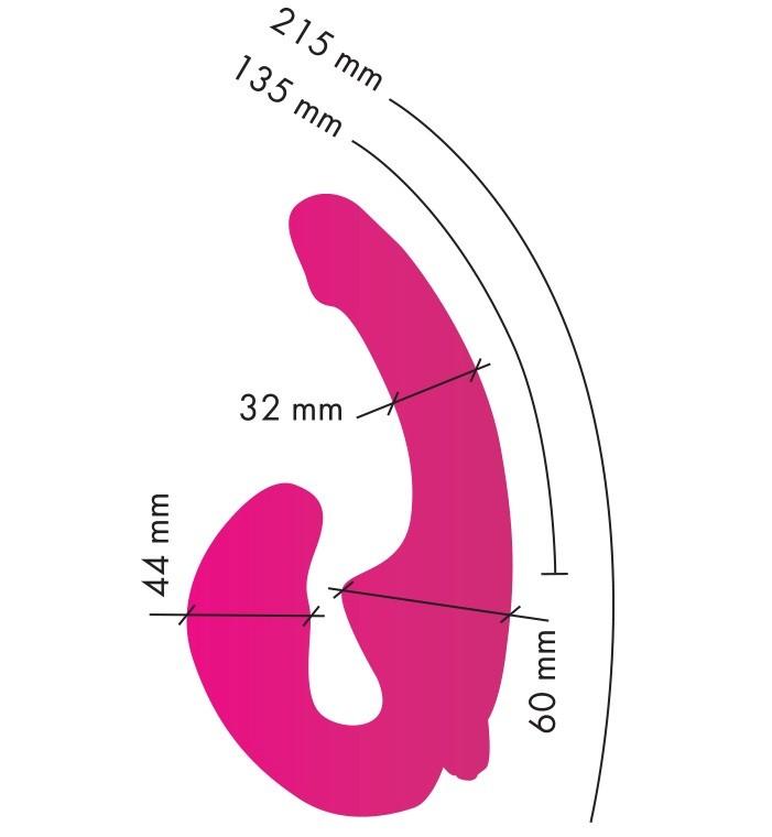 Безремневой страпон с вибрацией «ГлавСексМаг» (Фото 2)