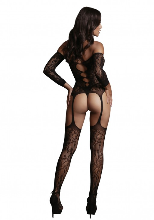 Боди-комбинезон «Criss Cross Neck Bodystocking» (Фото 1)