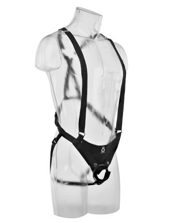 Страпон-система с насадкой «10 Hollow Strap-On Suspender System» (Фото 4)