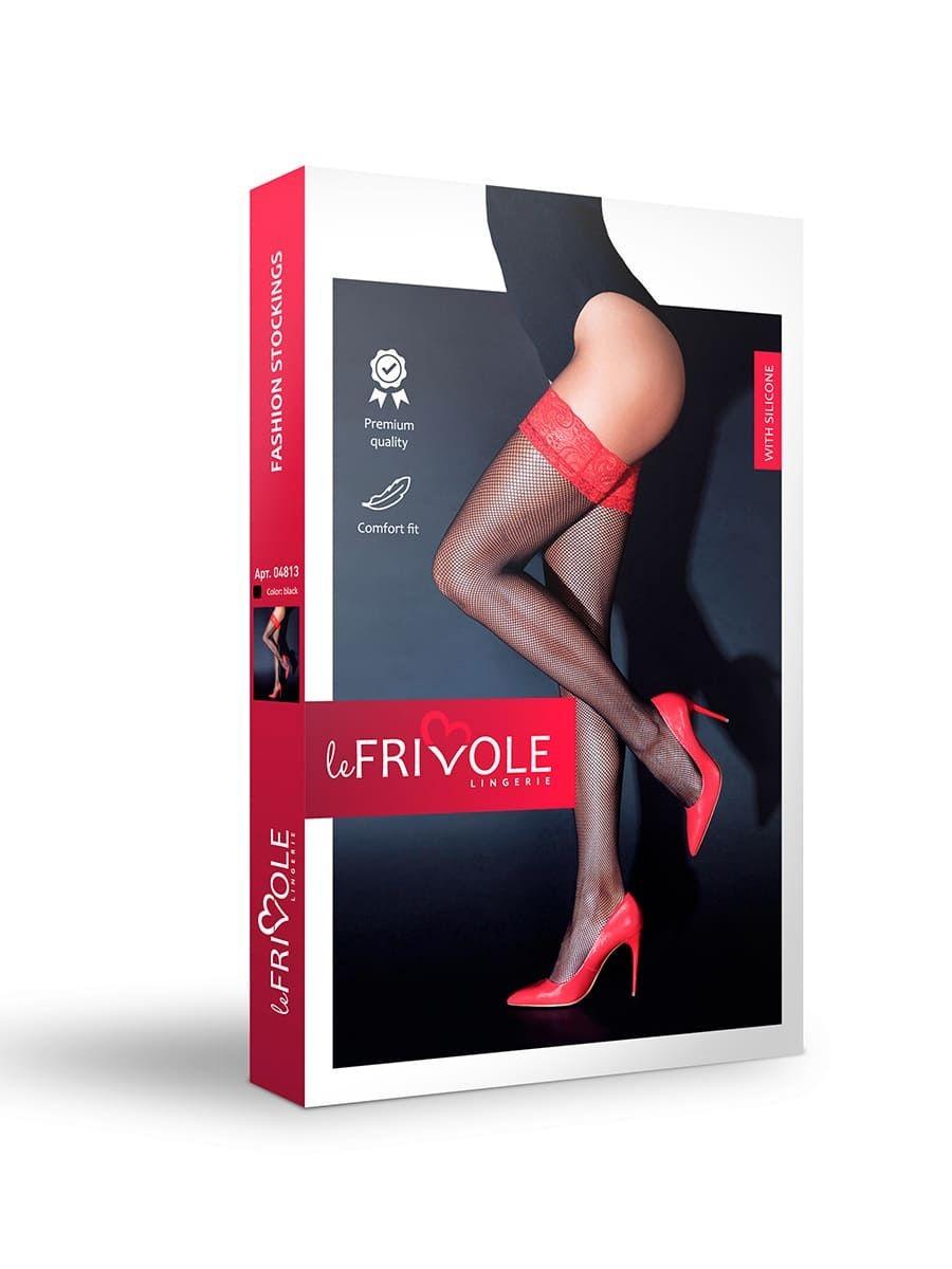 Чулки с кружевной резинкой на силиконе «Le Frivole» (Фото 2)