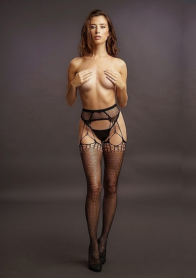 Чулки с поясом «Shredded Suspender Pantyhose» (Фото 1)