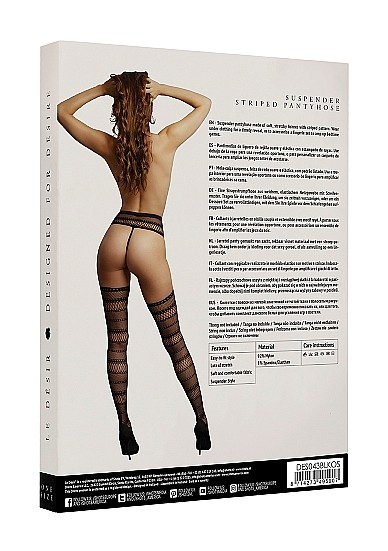 Стрип-панти «Suspender Striped Pantyhose» (Фото 3)