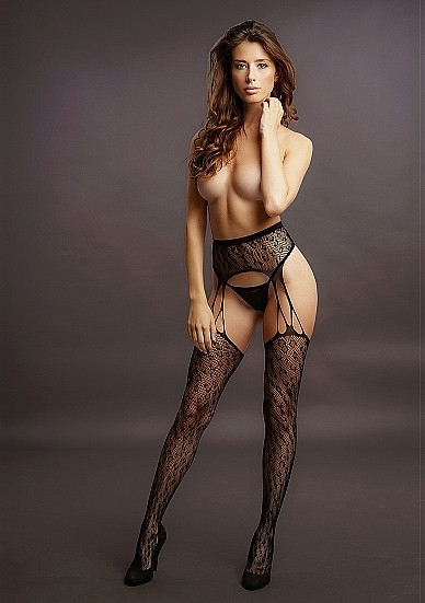 Стрип-панти «Suspender Leopard Pantyhose» (Фото 1)