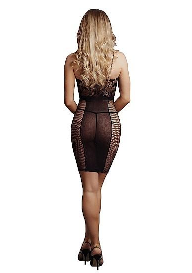 Сексуальное платье «Knee-Length Lace and Fishnet Dress» (Фото 1)