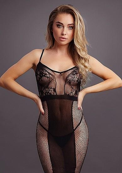 Сексуальное платье «Knee-Length Lace and Fishnet Dress» (Фото 2)
