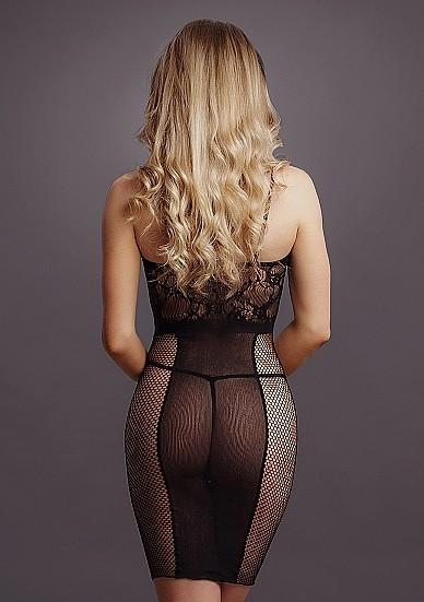 Сексуальное платье «Knee-Length Lace and Fishnet Dress» (Фото 3)