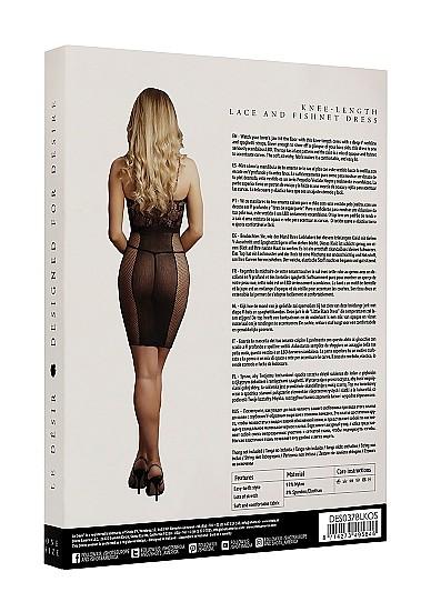 Сексуальное платье «Knee-Length Lace and Fishnet Dress» (Фото 5)
