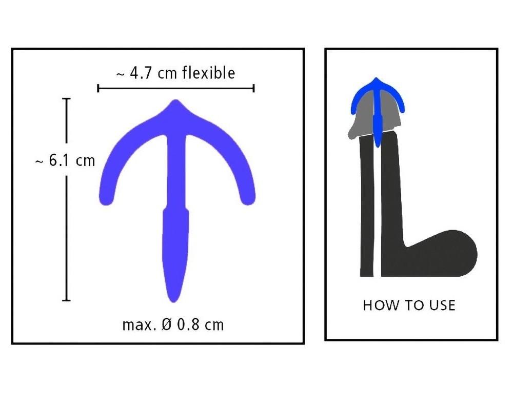 Стимулятор для уретры с ограничителем «Penis Plug Sperm Stopper» (Фото 4)