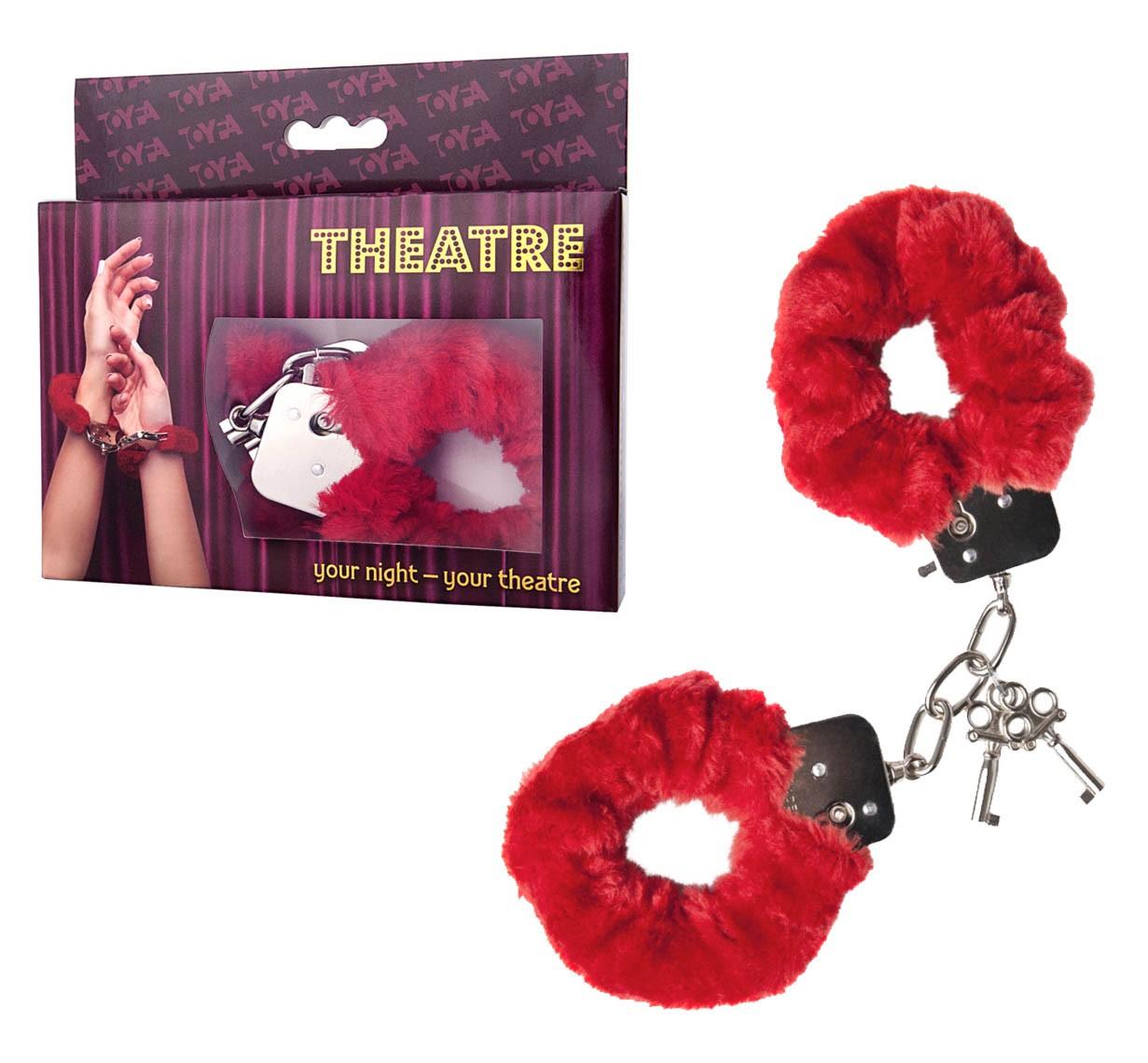 Меховые наручники «Theatre»