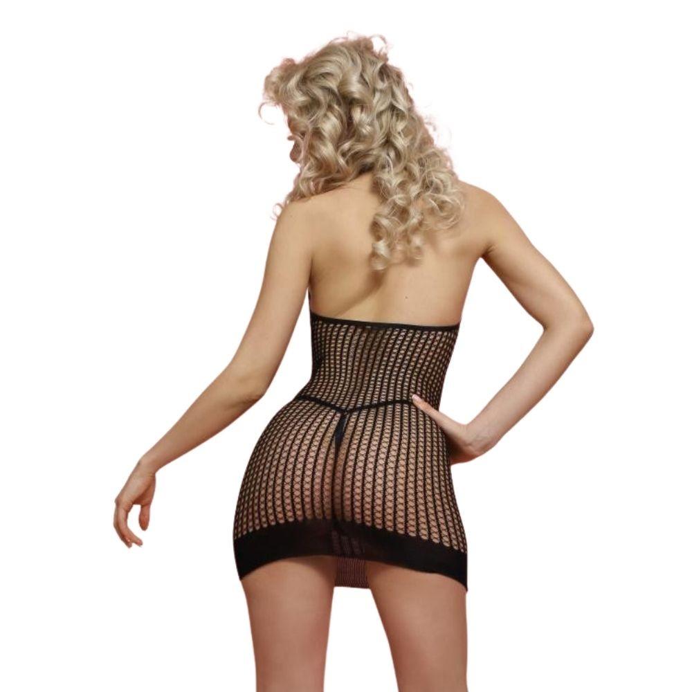 Мини-платье в сетку «Amor El» (Фото 1)