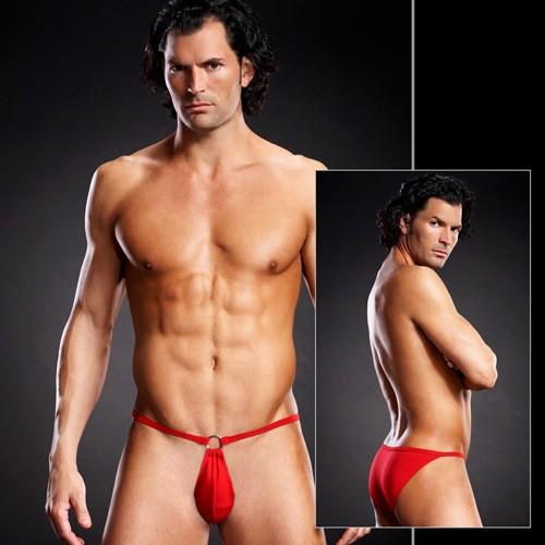 Мужские pouch-бикини «Blue Line Red» (Фото 1)