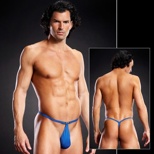 Мужские POUCH V-стринги «Blue Line Dark Blue» (Фото 1)
