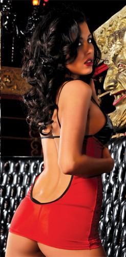 Платье с черным лифом «Fire» (Фото 1)