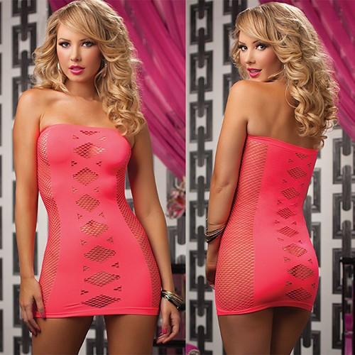 Платье-бандо в сетку «Seven'til Pink» (Фото 2)