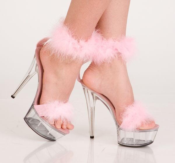 Стрип обувь с пухом «Erolanta»