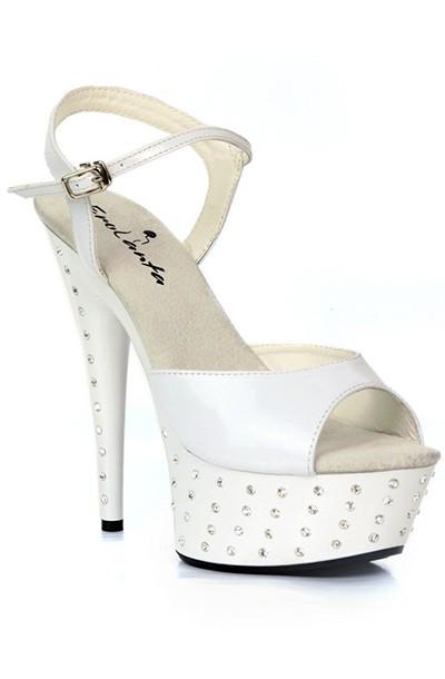 Стрип обувь со стразами «Erolanta White»