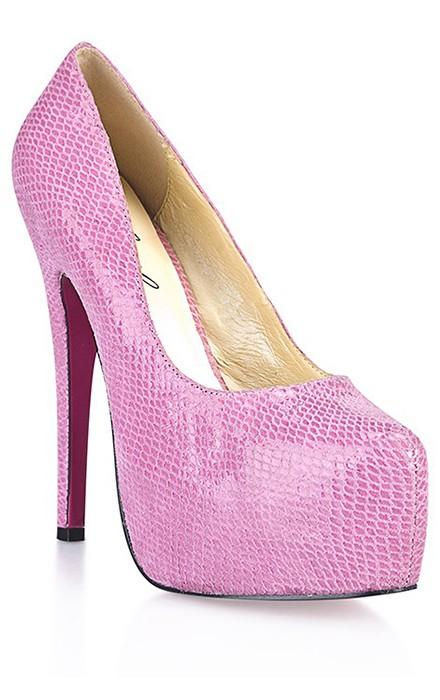 Розовые туфли под питона «Hustler»