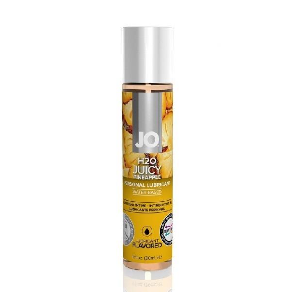 Съедобный лубрикант JO H2O Flavored «Сочный ананас»