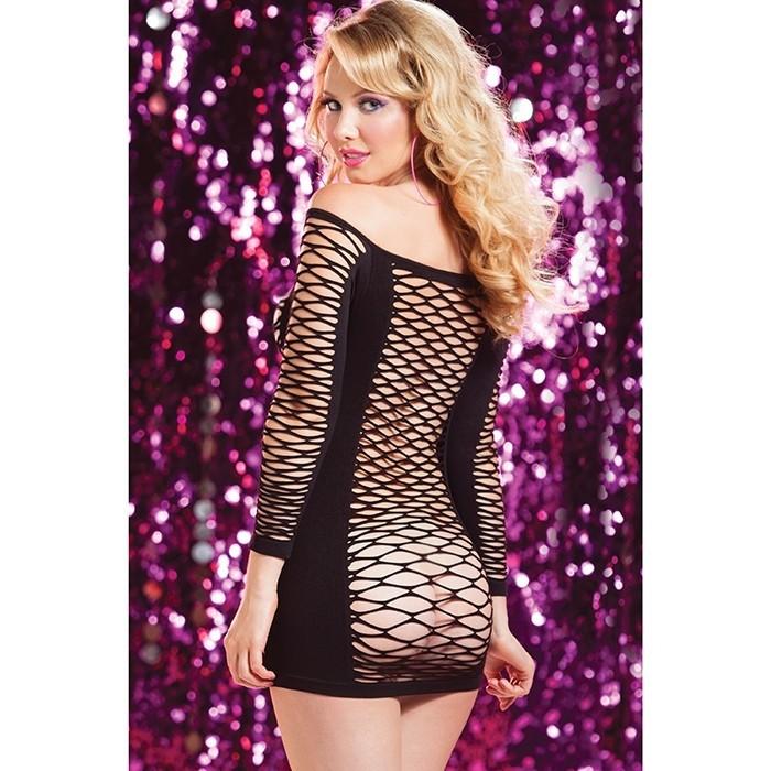 Платье в крупную сетку «Seven'ti Black» (Фото 1)